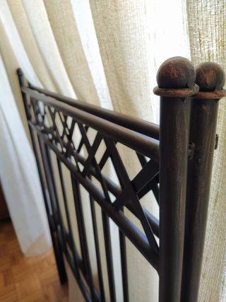 2 Cabeceros de hierro forjado para camas de 90cm