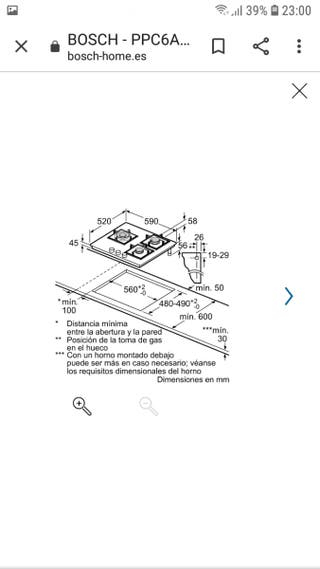 placa gas Bosch