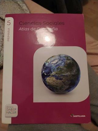 Atlas 5 de primaria Ciencias Sociales Santillana