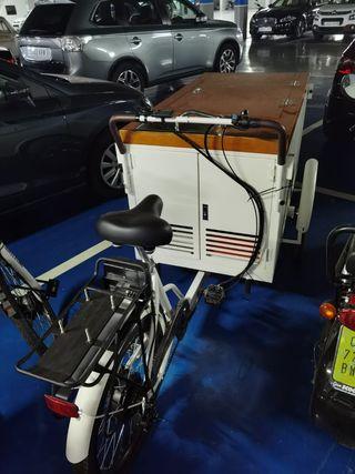 bicicleta eléctrica helados