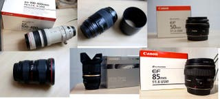 Lote de objetivos canon (6 diferentes focales)