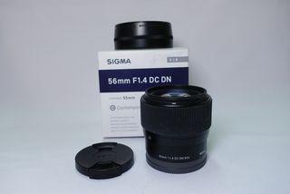 Objetivo sigma 56mm f1.4 sony