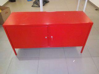 Mesa armario de IKEA modelo PS metalico rojo