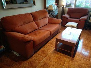 Sofá y sillón a conjunto, magenta