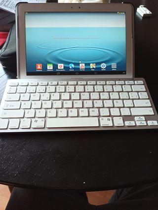 tablet samsung tab2 y teclado bluetooth