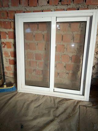 ventana aluminio blanca corredera