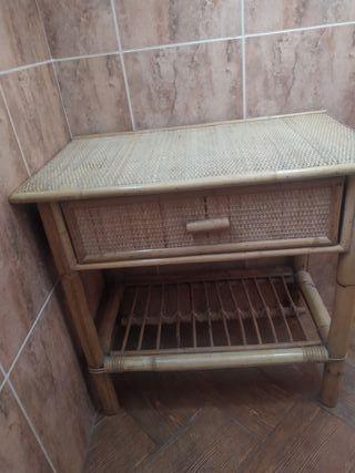 Conjunto de baño en mimbre