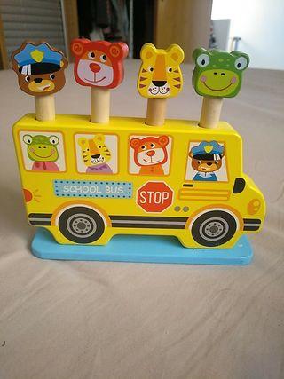 Autobús juguete de madera