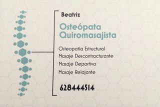 Osteopatia y Quiromasaje