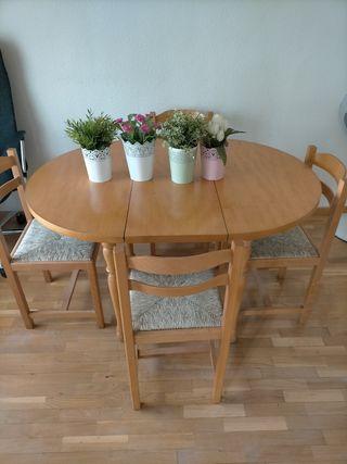 Mesa y sillas de comedor