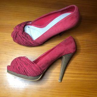 Zapatos fiesta tacón zara