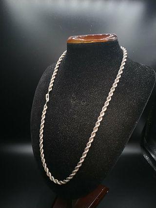 cadena de plata cordón años 80