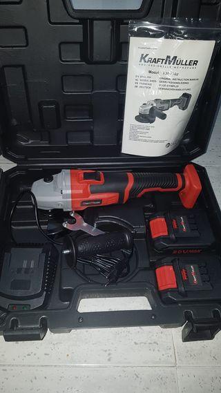 Radial 20v con 2 baterías