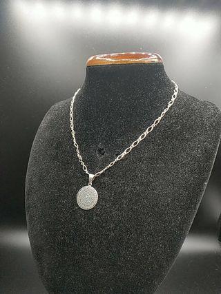 cadena de plata y colgante azteca