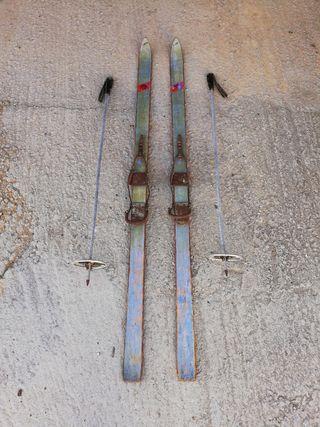 Esquís vintage,