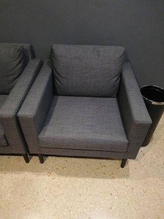 Sillón gris Ikea Friheten
