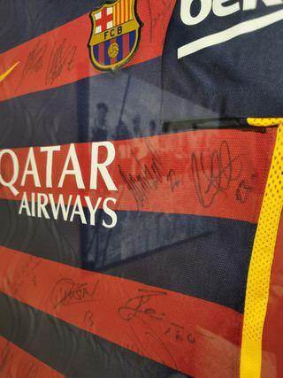 camiseta fc Barcelona firmada