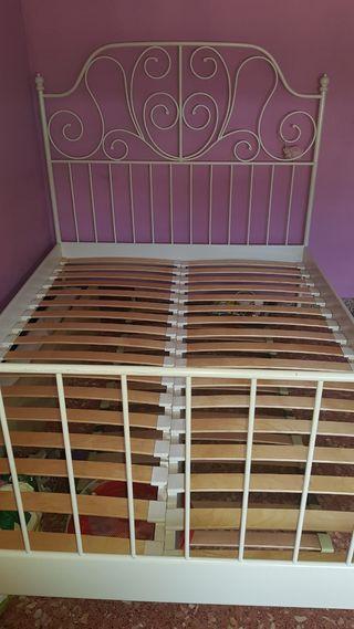 cama blanca 140x200