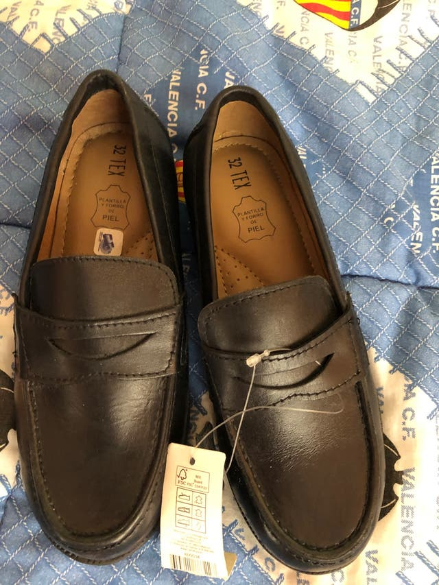 Zapatos piel niño
