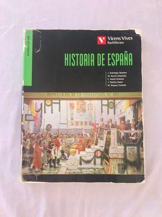 Libro de historia de España de 2 bach