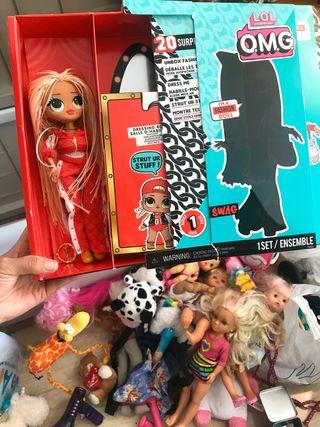 Lote de juguetes - peluches muñecas barbie bebes