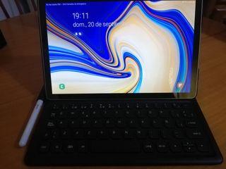Samsung Galaxy Tab S4, S pen y funda con teclado.