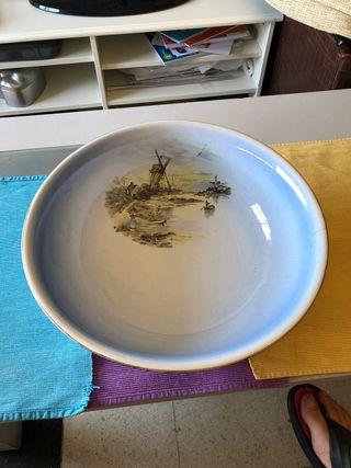 Palangana muy antigua porcelana