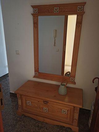 baul zapatero y espejo
