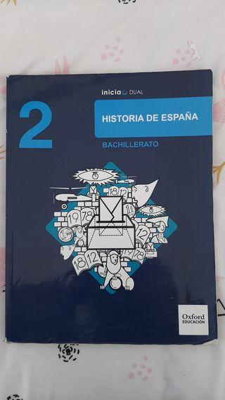 libro historia de España bachillerato