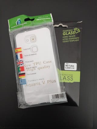 Funda Bq Aquaris V Plus + Protector