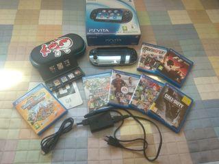 PS Vita Wifi + juegos + funda + tarjeta memoria