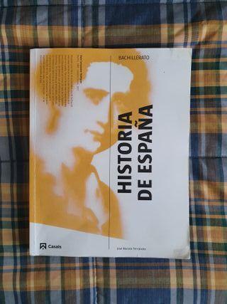 Libro de HISTORIA DE ESPAÑA Bachillerato Casals