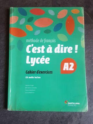 Cuadernillo francés de 1° de bachillerato
