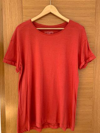 Camiseta básica algodón orgánico Violeta