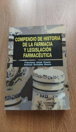 Compendio Historia Farmacia y Legislación ESTRENAR