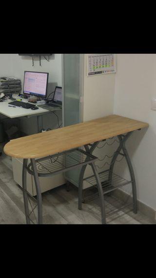 mesa barra auxiliar cocina