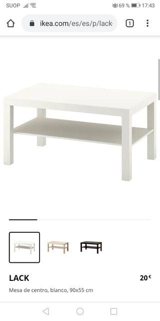 MESA IKEA LACK 90 X 55