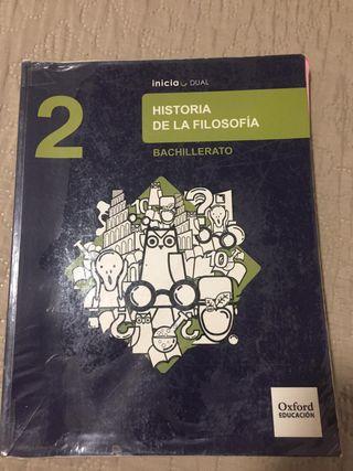 Libro Historia de la filosofía 2 bachillerato