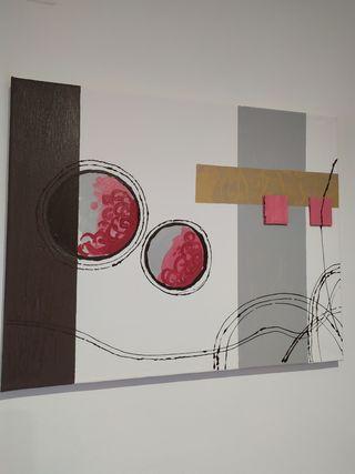 cuadro abstracto texturas
