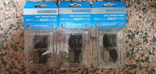 3 pares de pastillas de freno Shimano J02A