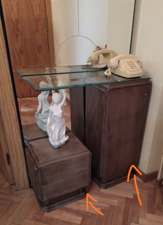 entrada dos muebles buenos de madera maciza