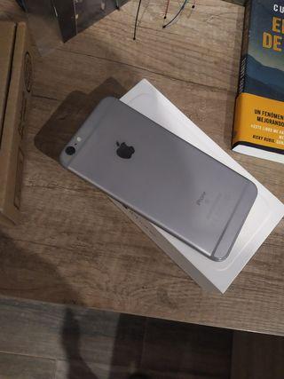 iphone 6s plus con su caja cargador y auriculares