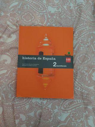 Libro historia de España España 2.Bachillerato