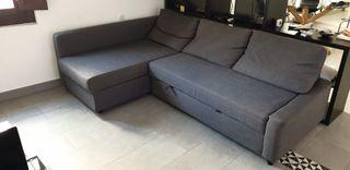 Sofá cama con almacenaje bajo la chaiselongue