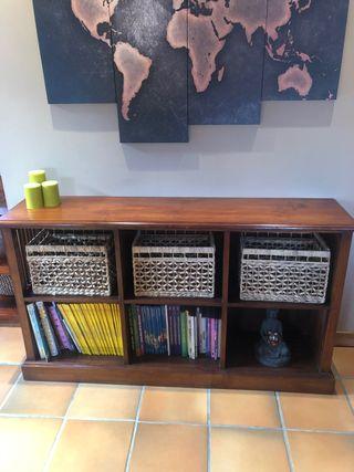 Estantería/librería mueble colonial madera maciza