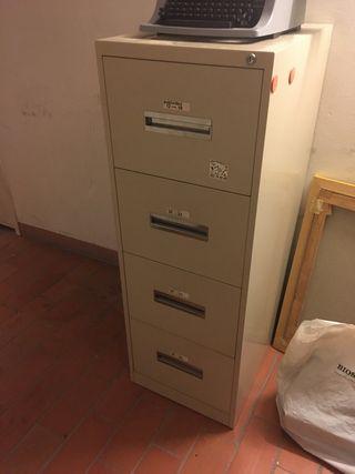 2 Mueble archivador metalico