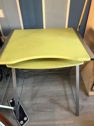 Mesa estudio adaptable y abatible aluminio