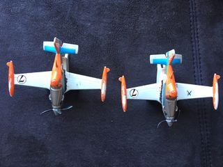 2 Aviones Cars de cuerda . Dusty