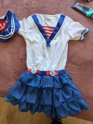 Disfraz marinera 4 - 6 años.