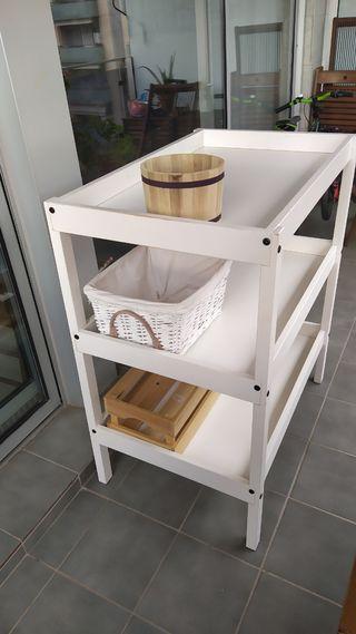 cambiador bebè ikea (madera Blanco)